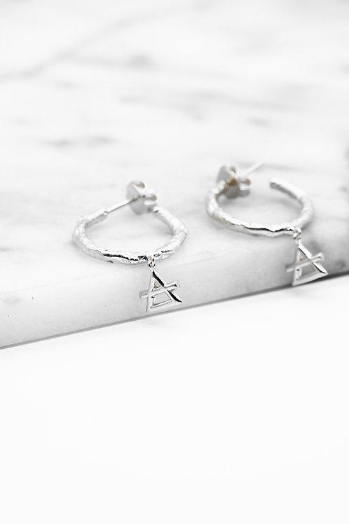 Silver Air Element Hoop Earrings Pre-Order