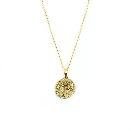 Gold Eihwaz Rune Necklace