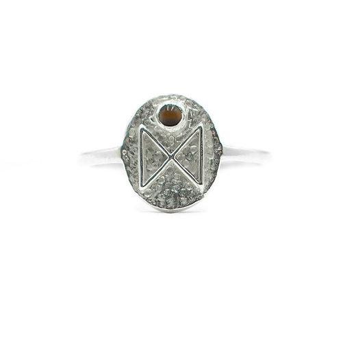 Silver Dagaz Rune Ring