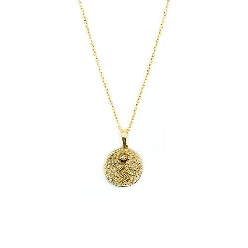 Gold Jera Rune Necklace