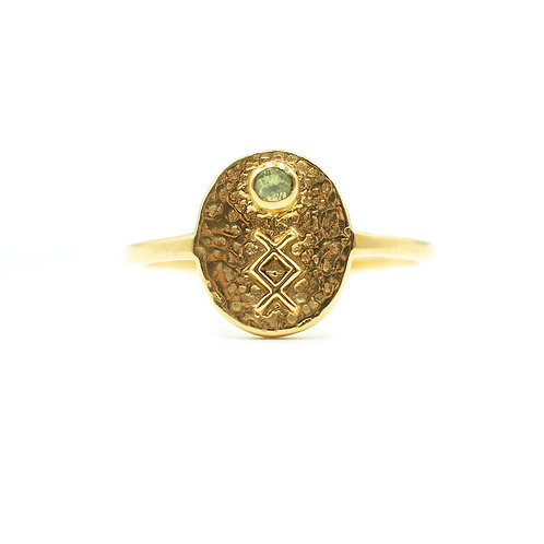 Gold Inguz Rune Ring