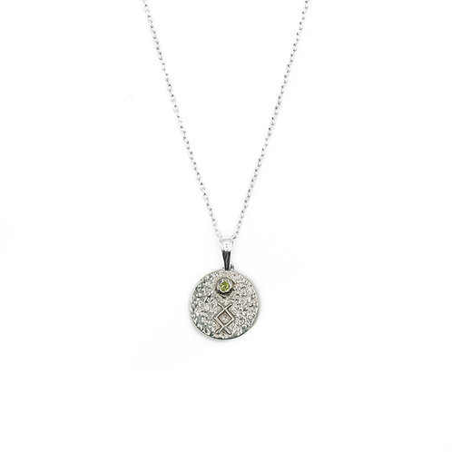 Silver Inguz Rune Necklace