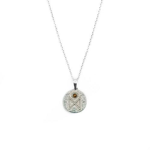 Silver Dagaz Rune Necklace