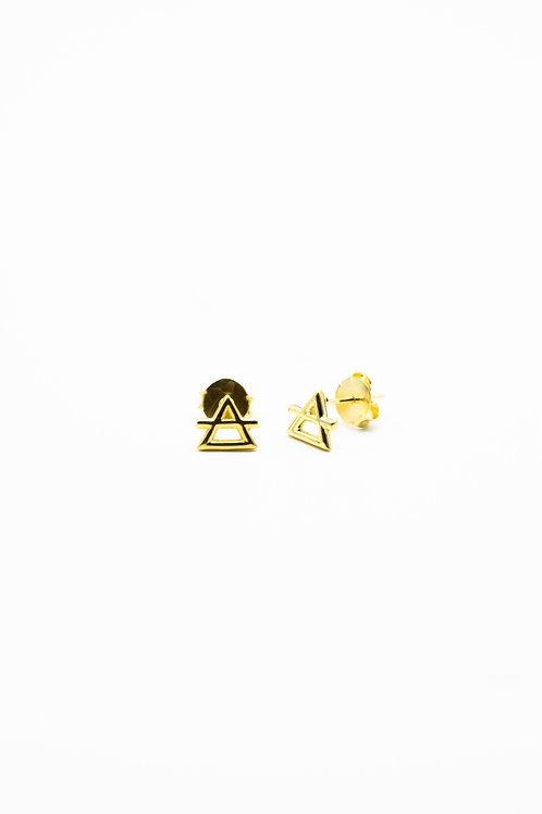 Gold Air Element Stud Earrings Pre-Order