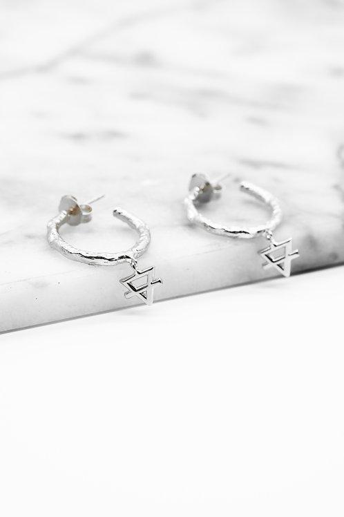Silver Earth Element Hoop Earrings Pre-Order