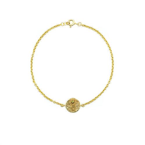 Gold Inguz Rune Anklet