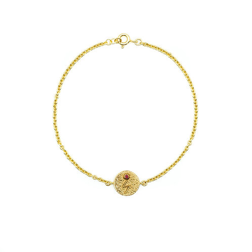Gold Sowilo Rune Anklet