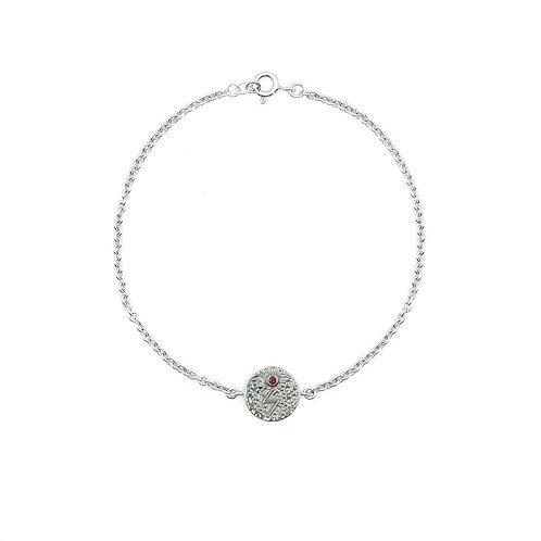 Silver Sowilo Rune Bracelet