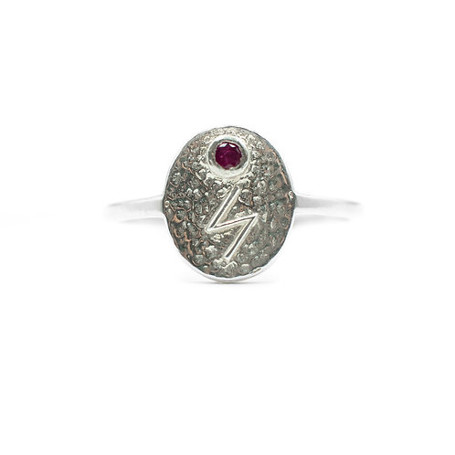 Silver Sowilo Rune Ring