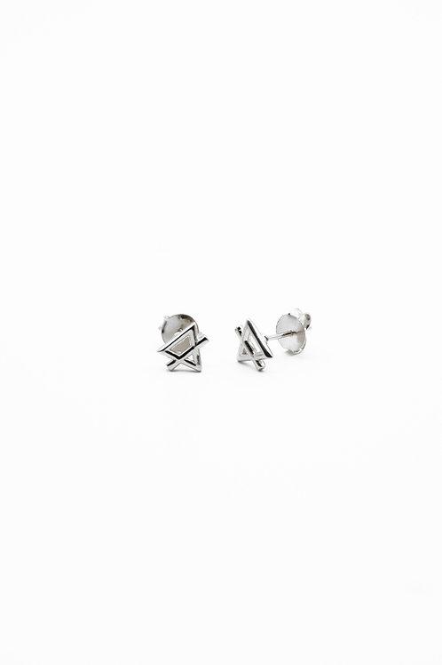 Silver Earth Element Stud Earrings Pre-Order