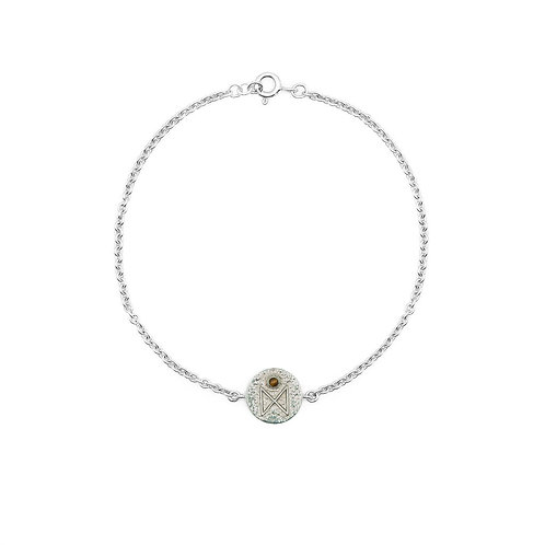 Silver Dagaz Rune Bracelet
