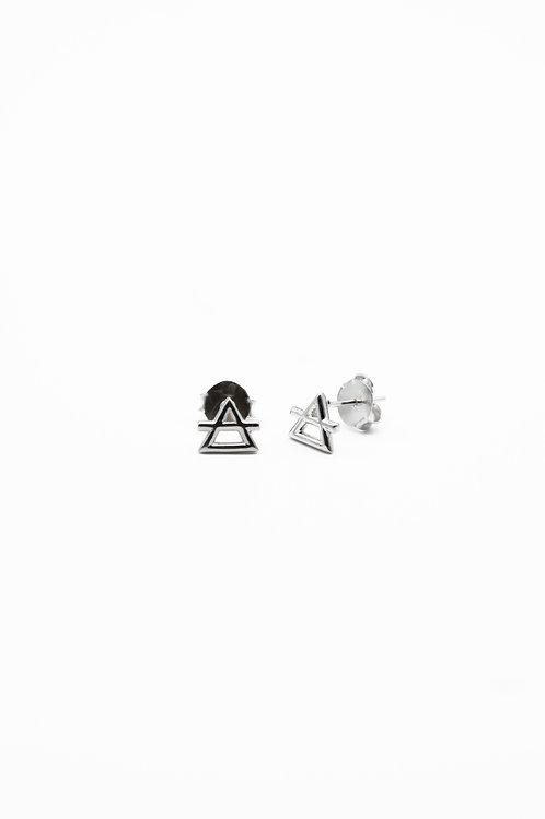Silver Air Element Stud Earrings Pre-Order