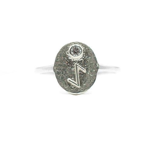 Silver Eihwaz Rune Ring