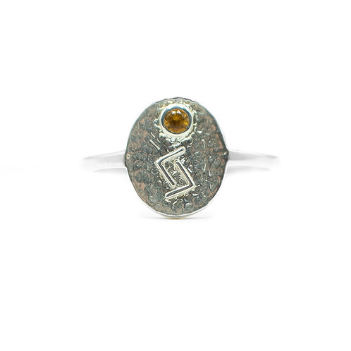 Silver Jera Rune Ring