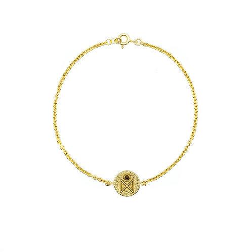 Gold Dagaz Rune Bracelet