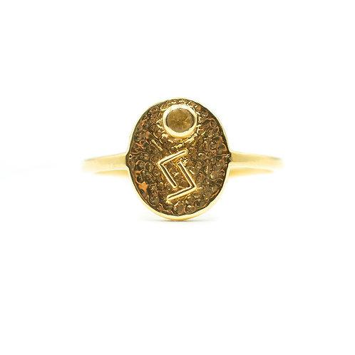 Gold Jera Rune Ring