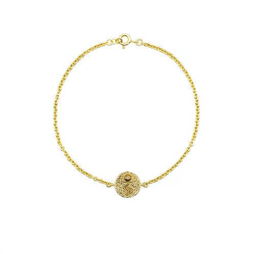 Gold Jera Rune Anklet