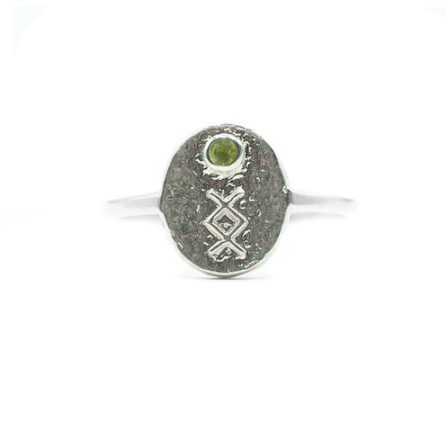 Silver Inguz Rune Ring