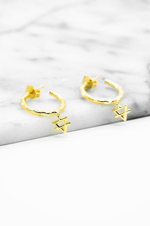 Gold Earth Element Hoop Earrings Pre-Order