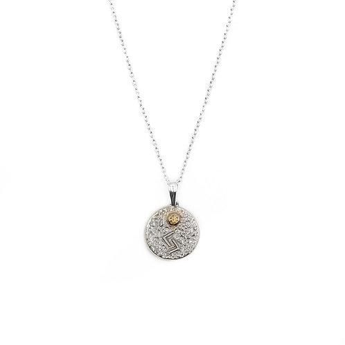 Silver Jera Rune Necklace