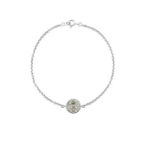 Silver Inguz Rune Anklet