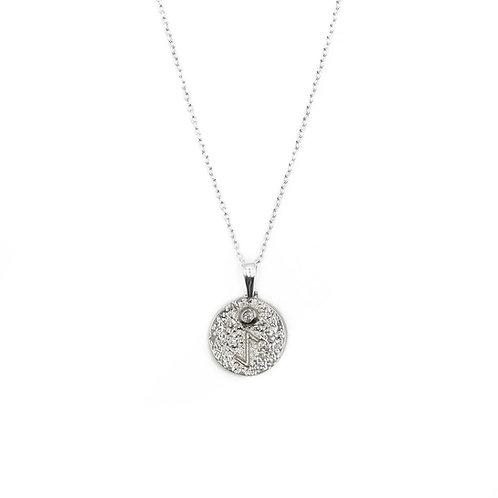 Silver Eihwaz Rune Necklace