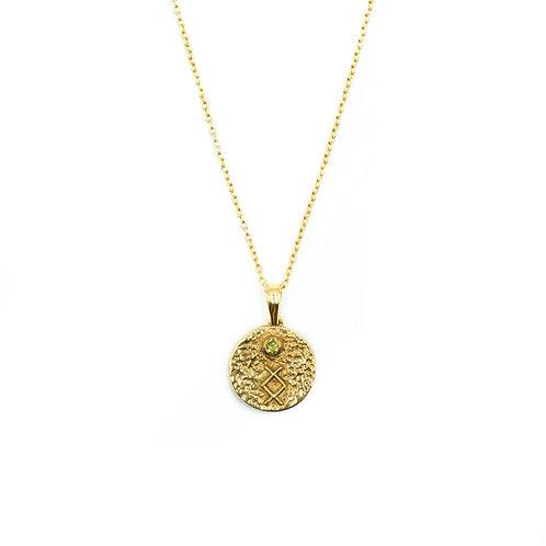 Gold Inguz Rune Necklace