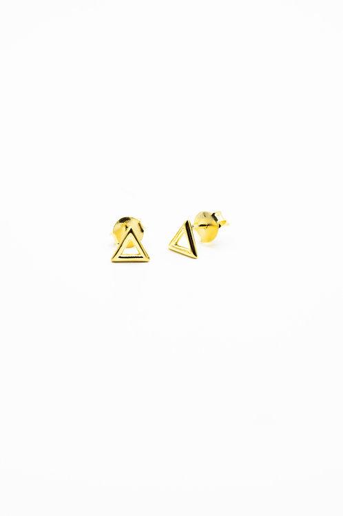 Gold Fire Element Stud Earrings Pre-Order