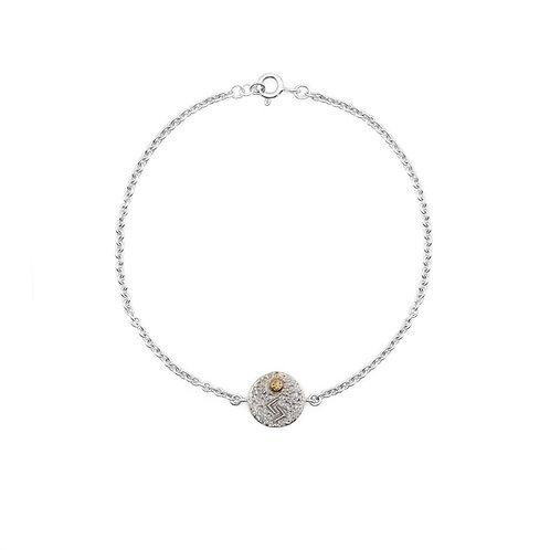 Silver Jera Rune Bracelet