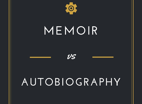 Know the difference between a memoir and an autobiography.