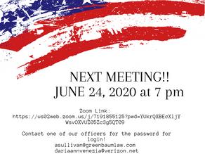 June 24, 2020 Meeting!
