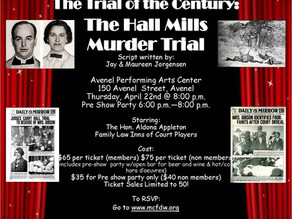 The Trial of the Century! Sponsored by the MCFDW
