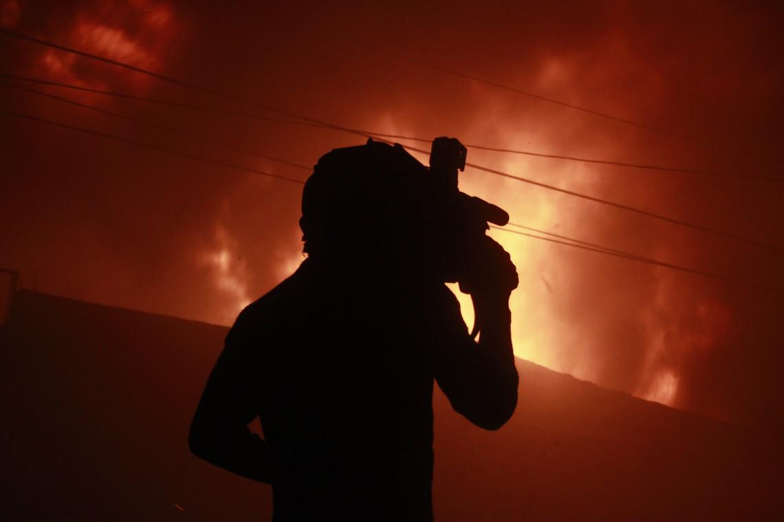 Camarógrafo en Incendio