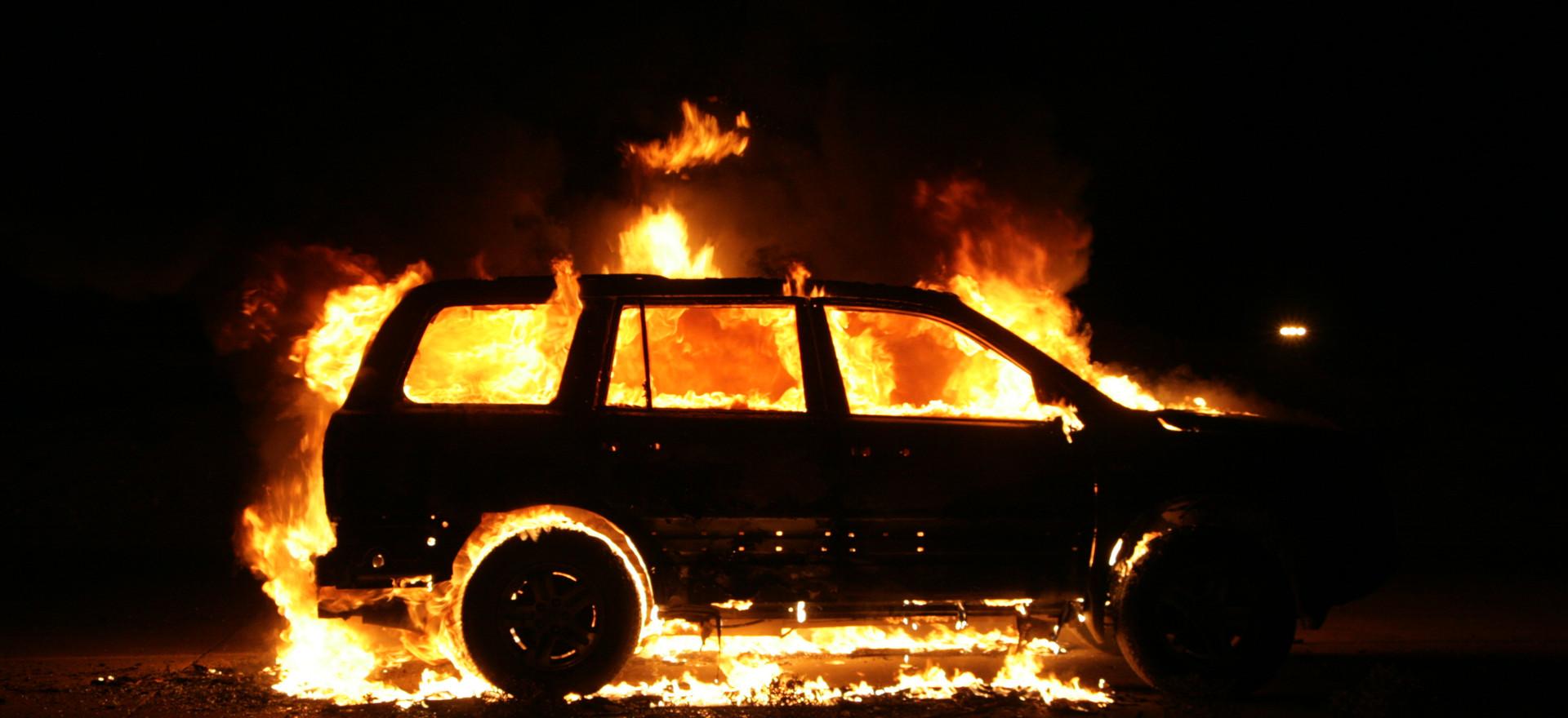 Vehículo en llamas