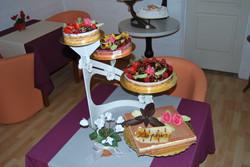 Pièce montée avec gâteaux