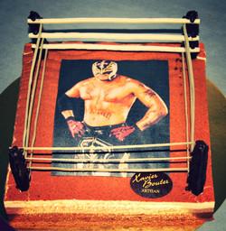 """Gâteau """"Ring de boxe"""""""