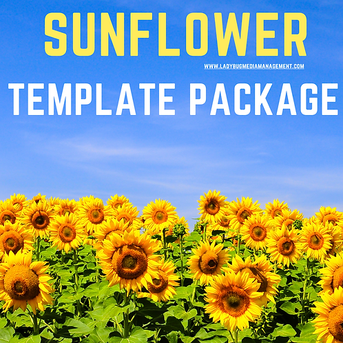 Sunflower Template Package
