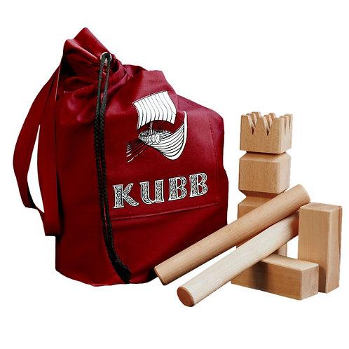 KUBB-Spiel rot
