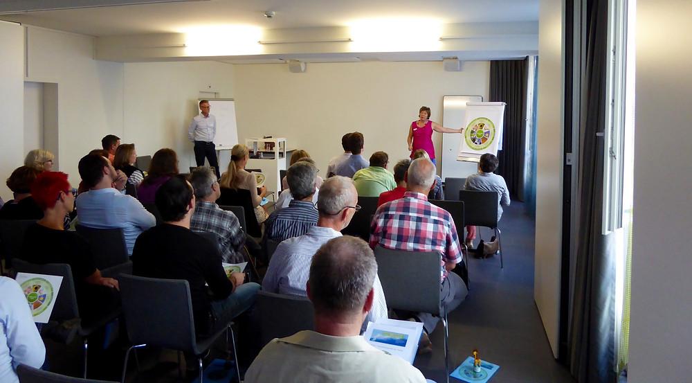 Katrin Adler & Mario Grossenbacher am kmu-Dienstag in Reinach, BL