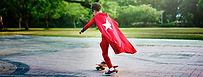 Kid-Skateboard-Superhero-Youth-Playful-C