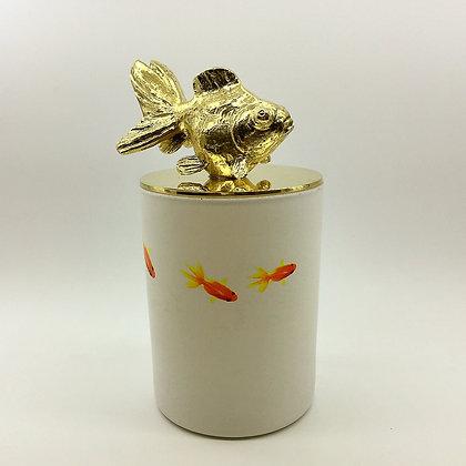 Gold goldfish candle