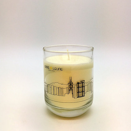 Hong Kong skyline candle