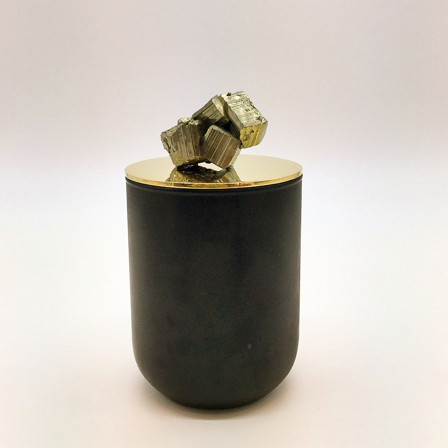 Pyrite mineral stone candle.jpg