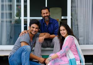Sara Ali Khan, Sushant Singh Rajput & Abhishek Kapoor   Kedarnath Movie   Bollywood Actors & Director  Photo by: Nitesh Square