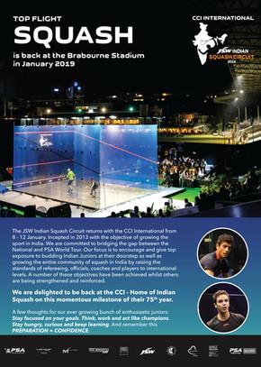 2019: World Class Squash Action back in Mumbai!