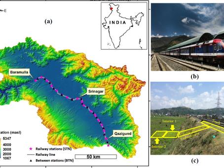 A railroad in Kashmir Himalaya