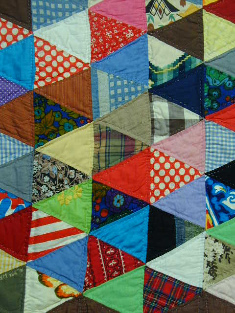 Thousand Pyramids Quilt (detail)