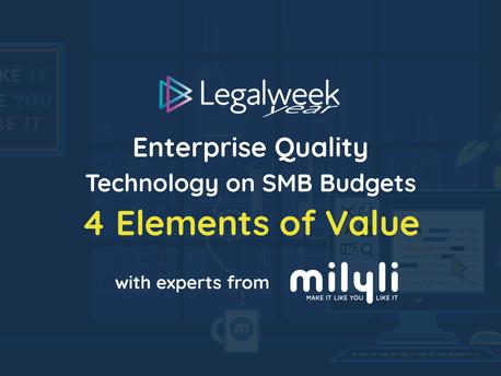 Enterprise Quality Technology on SMB Budgets 4 Elements of Value