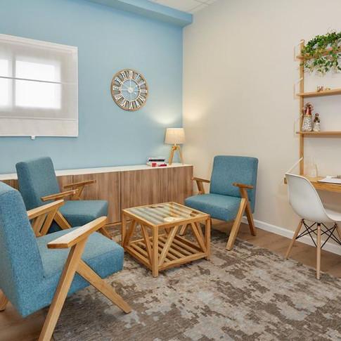 עיצוב חדר טיפול פסיכולגי