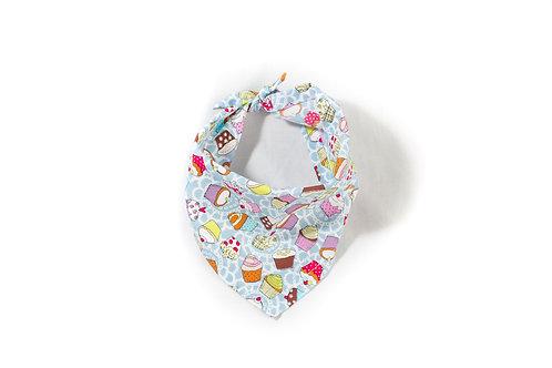 Cupcake design dog bandana